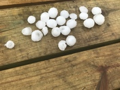 This is some hail we got in Cambridge Iowa
