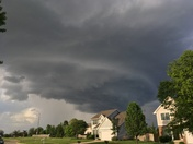Storm front moving through Ankeny, IA.