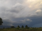 Storm passing by Clifty, Ar