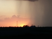 Rain and sunset