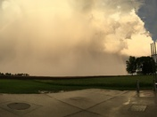 Photo of tonight's thunderstorm, taken just after 8pm from Mitchellville. -Sean
