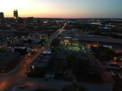 Drone Photo of Downtown Omaha Tonight