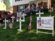 This Memorial Day tribute is located in Baldwin on Young Drive