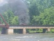 Picture of derailment fire in Ottumwa, IA on Sunday.