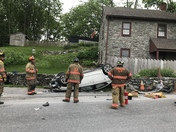 5/28 accident on Strasburg Pike 800 block at narrow bridge, occupants were ok.