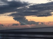 Sunset on the Twin Spans