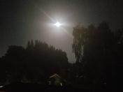 Beautiful moon from my backyard window in Watsonville.