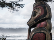 Nuh-Chah-Nulth Totem at Kwisitis Vistor Centre