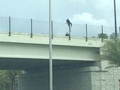 Man trying to jump off bridge in Ocala on 75