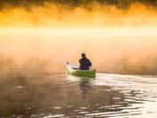En canot au petit matin