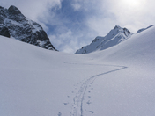 Wild Skintrack in Remote Mountains
