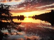 Reflections of lake muskoka