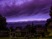 Early morning storm in Winterset