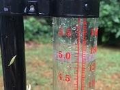Rain guage in my backyard