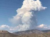 Fire north east of La LUZ NM