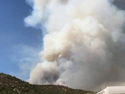 This is the Soldier Canyon fire as taken from the south at the Mescalero Tribal Store