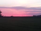 Sunset in Allerton, IA