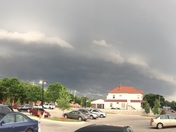 iPhone panoramic photo of storm moving on Wednesday