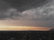 (AREIAL DRONE VIEW)   AFTER THE SEVERE STORM !!!