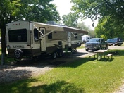 Beautiful day for camping