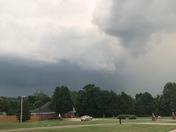 Storm cloud rolling in Fayetteville