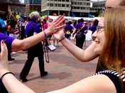 Gay Pride parade - City Hall Plaza, Boston, Ma.