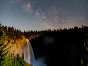 Milkyway over Helmcken Falls' Moonbow