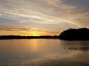 sunrise over Onset Harbor