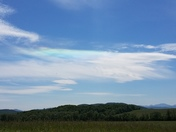 Neat colorful cloud found while on a family ride out near Essex NY