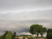Wicked looking clouds coming in over Shepherdsville.