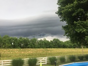 From Valley Station. Some crazy looking clouds