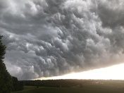 This is from the storm that came through Lanesville area Sunday  around 7 o'clock