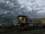 Storm front moving over Louisville International