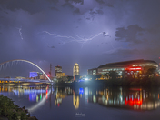 Lightning over Des Moines