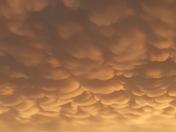 Mammatus Clouds!! Beautiful sunset!