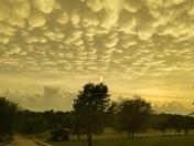 Monday sunset and strange clouds.