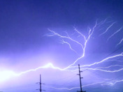 Lightning in Claycomo this morning