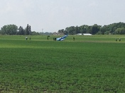 Small Airplane Crash Landed by Fort Dodge Airport