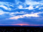 STUNNING  SANDIA MOUNTAIN SUNSET