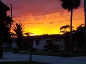 Beautiful sunset, out of beach side