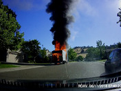 Delivery truck caught fire in Folsom the morning of Tuesday June 12th.