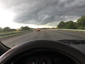 Clouds taken along I 220 Wednesday evening.