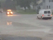 In fort dodge at the moment near the high schools flooding on most streets