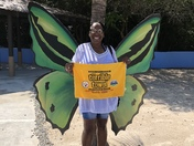 Representing the black and gold in Haiti on a seven day cruise.