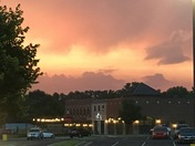 Sunset Wednesday night in Middletown