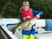 Eleven year old James Hsu caught this 5 ½ pound