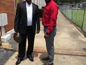My dad and I After Father's Day service! He's the man!