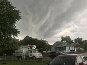 Cool clouds at council bluffs Iowa
