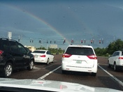 Double rainbow on 535 and World Drive. Beautiful!