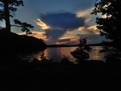 Lake Hartwell  Townville landing Fathers Day sunset